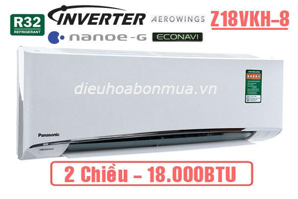 dieu hoa panasonic 2 chieu inverter 18000btu z18vkh-8