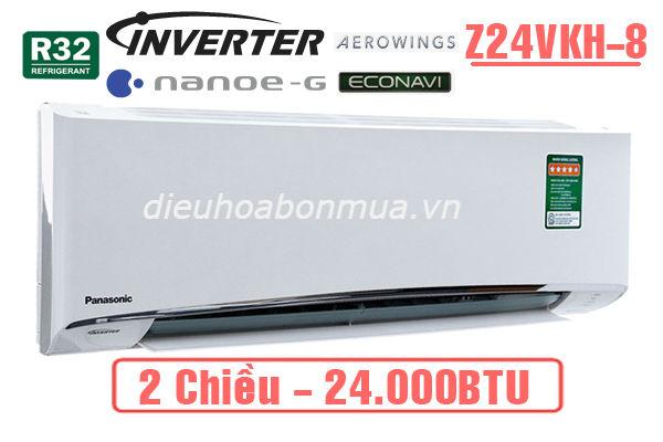 dieu hoa panasonic 2 chieu inverter 24000btu z24vkh-8