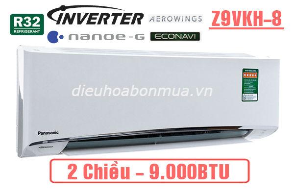 dieu hoa panasonic 2 chieu inverter 9000btu z9vkh-8