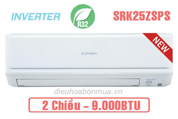 Dieu hoa Mitsubhishi Heavy 2 chiều Inverter 9.000BTU SRK SRC 25ZSPS-S5